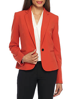 Nine West Crepe Single Button Jacket
