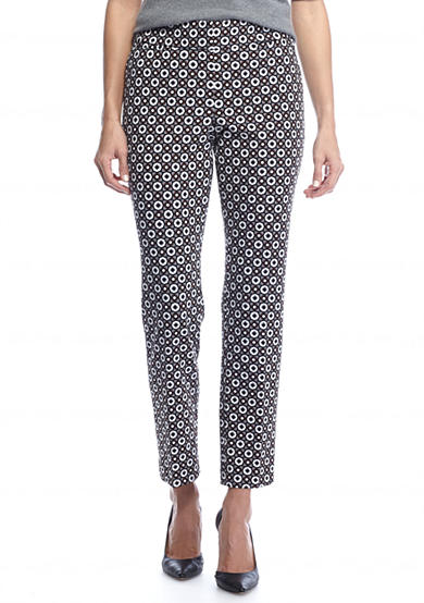 Nine West Print Slim Pant