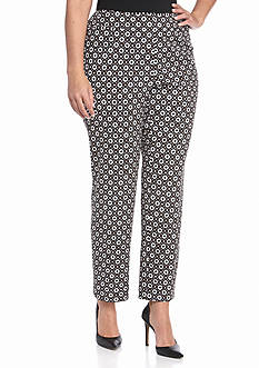Nine West Plus Size Print Slim Pants