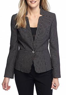 Nine West Woven Single Button Jacket