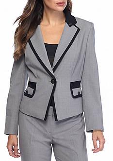 Nine West Framed Button Front Jacket