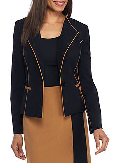 Nine West Piped Single Button Jacket