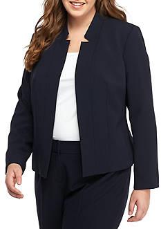 Nine West Plus Size Open Front Jacket