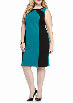 Nine West Plus Size Colorblock Dress