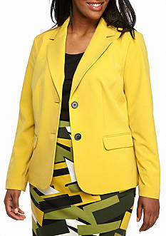 Nine West Plus Size Double Button Jacket