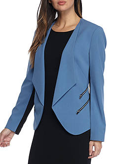 Nine West Flyaway Jacket With Zipper Detail