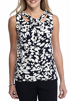 Nine West Sleeveless Print Knit Top
