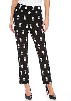 Nine West Printed Scuba Pants