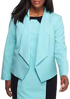 Nine West Plus Size Kiss Front Jacket