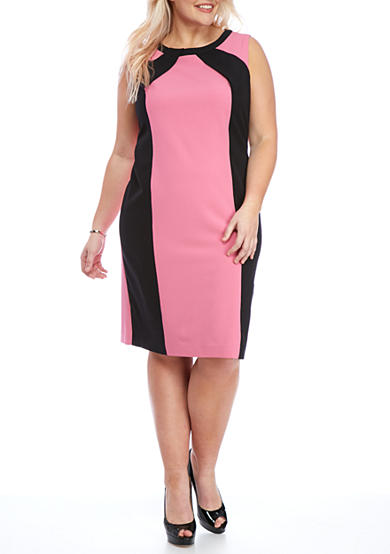 Nine West Plus Size Colorblock Sheath Dress