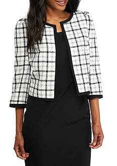 Nine West Plaid Crop Jacket