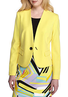 Nine West One-Button Bi-Stretch Jacket