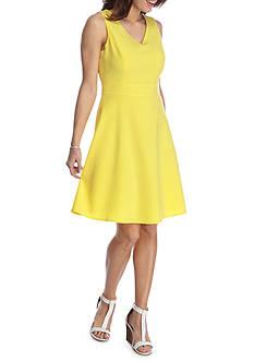 Nine West Sleeveless V-Neck Dress