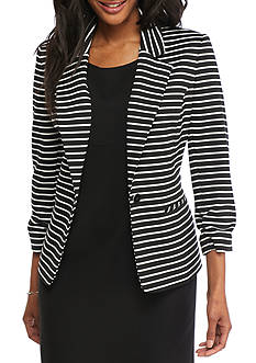 Nine West Striped Single Button Jacket