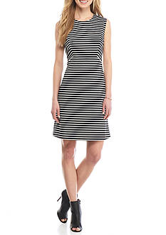 Nine West Stripe Ponte Dress