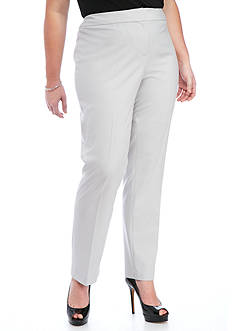 Nine West Plus Size Stretch Crepe Trouser Pant