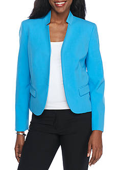 Nine West Inverted Notch Kiss Front Jacket
