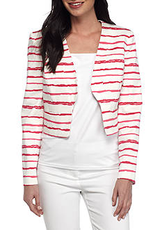 Nine West Textured Jacquard Cropped Jacket