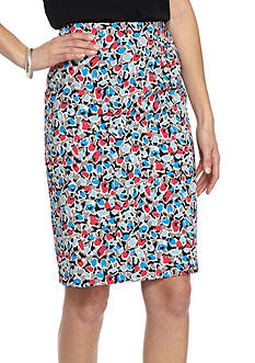 Nine West Printed Slim Skirt