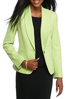Nine West Single Button Shawl Collar Jacket