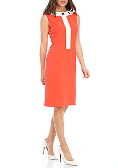 Nine West Grommet Neckline Sheath Dress
