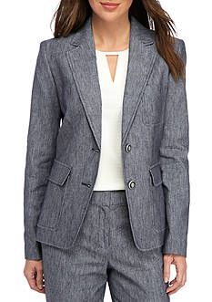 Nine West Two Button Linen Jacket