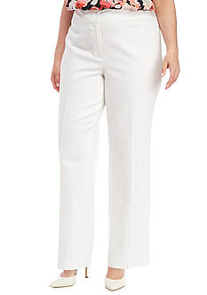 Nine West Plus Size Linen Pants