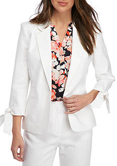 Nine West One Button Linen Jacket