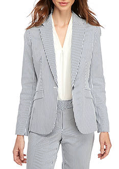 Nine West Seersucker Jacket