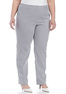 Nine West Plus Size Seersucker Pant