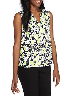 Nine West Printed Y-Neck Cami