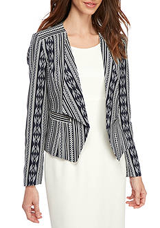 Nine West Linen Kiss Front Jacket