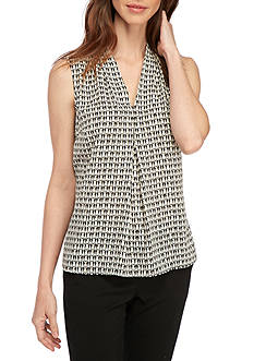 Nine West Penguin Printed V-Neck Cami