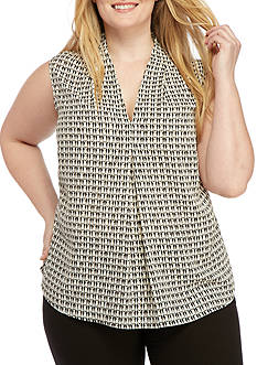 Nine West Plus Size Printed V-Neck Cami