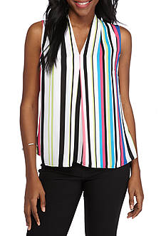 Nine West Striped V-Neck Cami