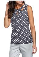 Nine West Printed Cross Over Neck Cami