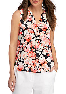Nine West Floral Printed Y-Neck Cami