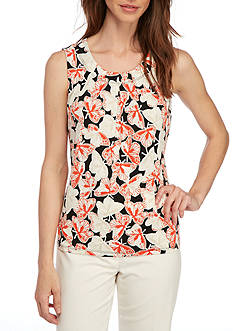 Nine West Pleated Neck Cami