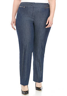 Nine West Plus Size Denim Straight Pant