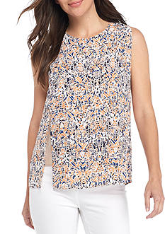 Nine West Printed Side Slit Cami