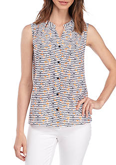 Nine West Anchor Print Button Front Cami