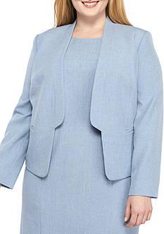 Nine West Plus Size Flange Kiss Front Jacket