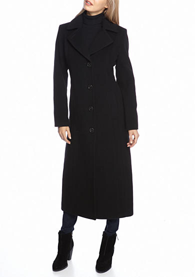 Anne Klein Long Cashmere Blend Pea Coat