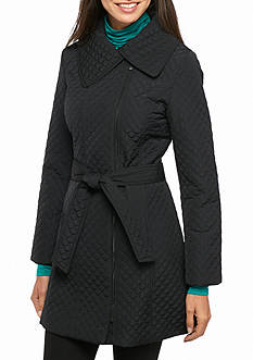 Anne Klein Petite Circle Pattern Coat