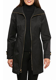 Anne Klein Zip-up Hooded Coat