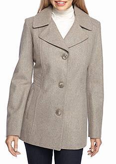 Anne Klein Button Peacoat