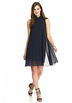 Vince Camuto Mock Neck Trapeze Dress