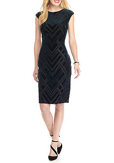 Vince Camuto Burnout Velvet Sheath Dress