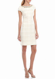 Vince Camuto Bead Embellished Sheath Dress