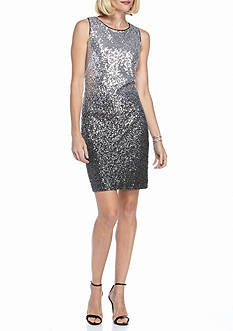 Vince Camuto Ombre Sequin Sheath Dress